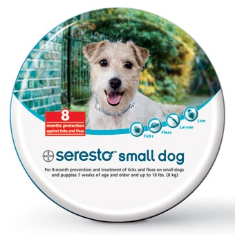 Seresto Flea and Tick Collar, Small Dog.