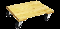 Jet 4 Wheel Wooden Dolly with Solid Top