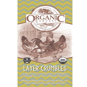 Organic Layer Crumbles with Omegga Chicken Feed