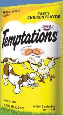 Mars Whiskas Temptation Tender Chicken 12/3Oz Pouch