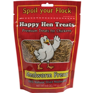 Happy Hen Treats Meal Worm Frenzy - 3.5 oz.