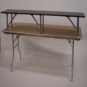 Alluminum 6' Table Top Riser/ Bar