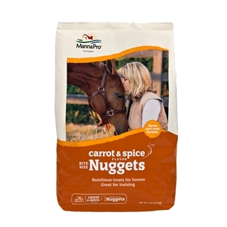 Manna Pro Carrot & Spice Flavor Bite-Size Nuggets 5lb