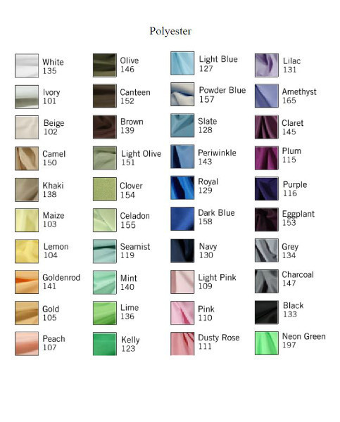 List of available Linens at our store