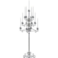 13-Light Nickel Tree Floor Candelabra