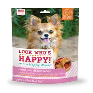 Look Who's Happy Happy Wraps Carrot with Chicken Treats for Dogs