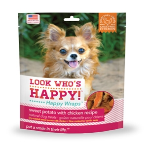 Look Who's Happy Happy Wraps Sweet Potato with Chicken Dehydrated Treats for Dogs