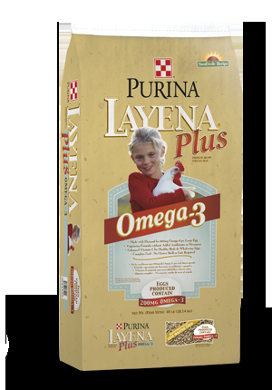 Purina Layena Plus Omega-3 Chicken Feed