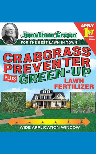 Crabgrass Preventer plus Green Up Lawn Fertilizer 22-0-3 - Apply 1st