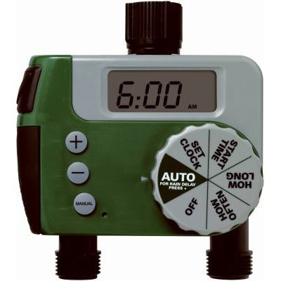 Green Thumb 2 Outlet Digital Watering/Sprinkler Timer