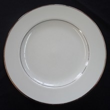 "Gold Band: 9"" Lunch Plate"