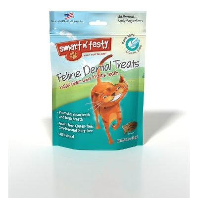 Smart n' Tasty Feline Dental Treats, Ocean Fish