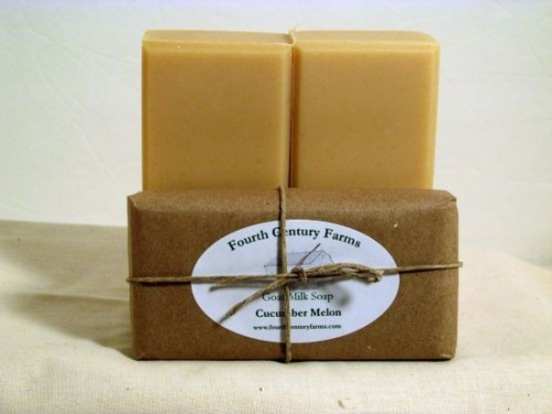 Fourth Century Farms Goat Milk Soap in Cucumber Melon