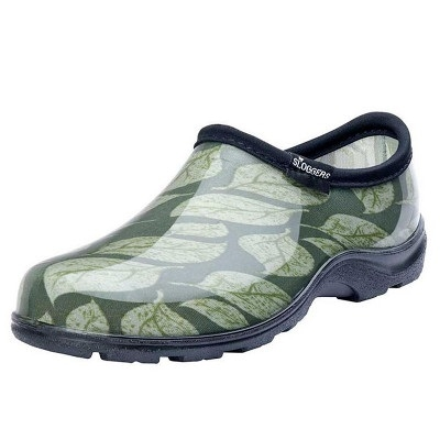 Garden Slogger Waterproof Comfort Shoes - Leaf Print