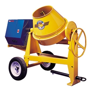Concrete mixer, 6 cu ft, towable