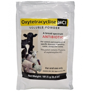 Oxlytetracycline HCl Soluble Powder Farm Animal Disease Treatment