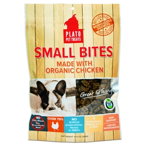 Small Bites Made with Organic Chicken Treats for Dogs