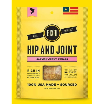 BIXBI Hip & Joint Salmon Jerky Dog Treats, 4 oz.