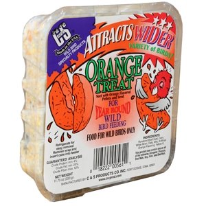 C and S Orange Treat Bird Suet