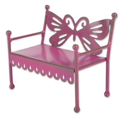 Stuido-M Gypsy Garden Mini Pink Butterfly Bench