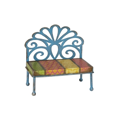 Studio-M Gypsy Garden Mini Filagree Patterned Bench