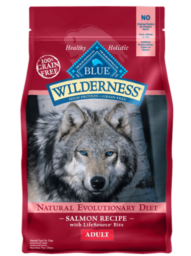 Blue Buffalo Wilderness Adult Dog Food Salmon