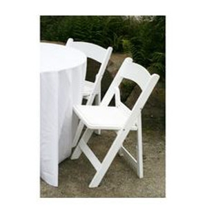 White Resin Folding Chair