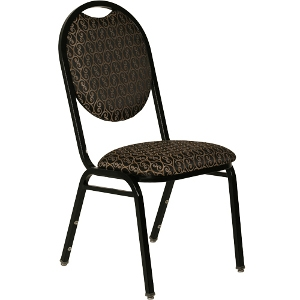 Padded, Round-Back Stackable Banquet Chair
