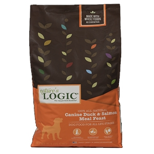 Nature's Logic Natural Duck & Salmon Kibble Canine Formula