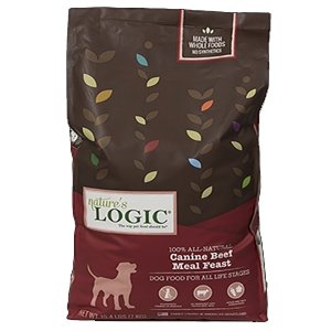 Nature's Logic Natural Beef Kibble Dinner Fare Canine Formula 26.4 lb.