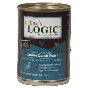 Nature's Logic Natural Lamb Canned D1er Fare Canine Formula 13.2 oz.