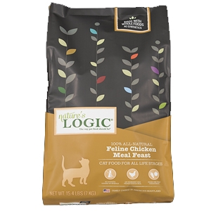 Nature's Logic Natural Chicken Kibble Feline Formula 3.3 lb.