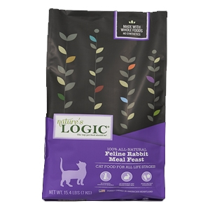 Nature's Logic Natural Rabbit Kibble Feline Formula 3.3 lb.