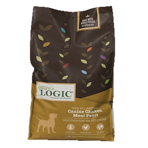 Nature's Logic Natural Chicken Kibble Dinner Fare Canine Formula 26.4 lb.