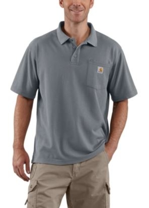 Men's Contractor's Work Pocket™ Blended-Pique Polo