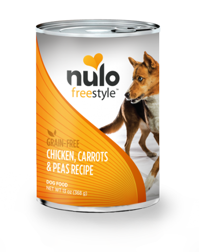 Nulo Freestyle Dog Chicken, Carrots & Peas Canned