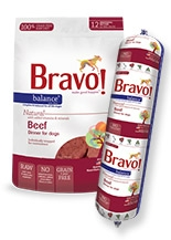 Bravo Balance Raw Diet Beef Dinner for Dogs