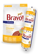Bravo Balance Raw Diet Chicken Dinner for Dogs
