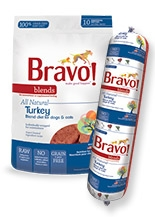 Bravo All Natural Turkey Blend Diet for Dogs