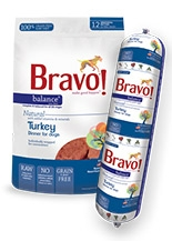Bravo Balance Raw Diet Turkey Dinner for Dogs