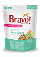 Bravo Homestyle Complete Natural Pork Dinner for Dogs