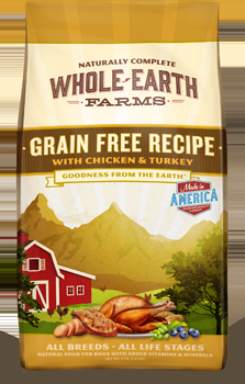 Whole Earth Farms Grain Free Dog Chicken & Turkey Dry Recipe