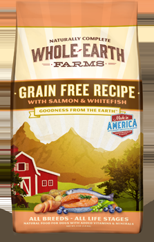 Whole Earth Farms Grain Free Dog Salmon & Whitefish Dry Recipe