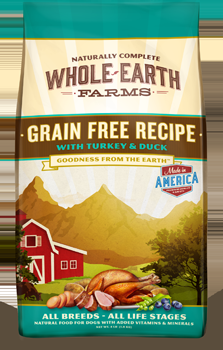 Whole Earth Farms Grain Free Dog Turkey & Duck Dry Recipe