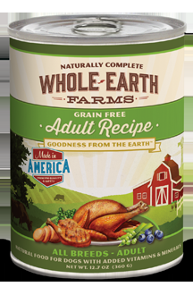 Whole Earth Farms Grain Free Adult Dog Canned Recipe