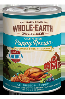 Whole Earth Farms Grain Free Puppy Canned Recipe