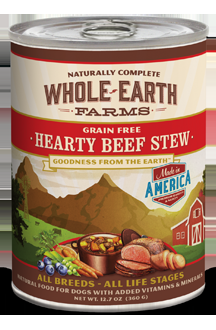 Whole Earth Farms Grain Free Dog Hearty Beef Stew Canned Recipe