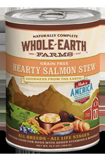 Whole Earth Farms Grain Free Dog Hearty Salmon Stew Canned Recipe