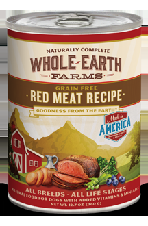 Whole Earth Farms Grain Free Dog Red Meat Recipe Canned Recipe