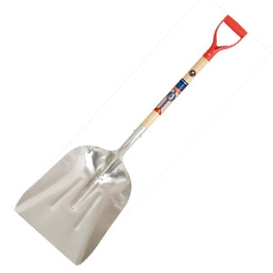 True American® #12 Aluminum Scoop Shovel with Poly D-grip Handle